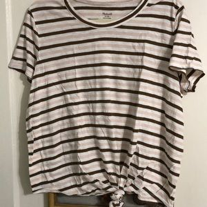 Madewell Whisper cotton knot front tee